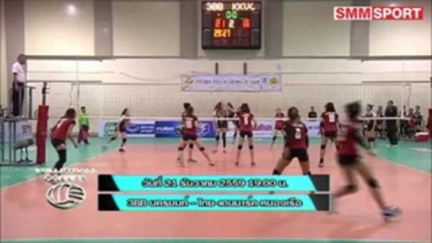 Volleyball Corner : ปรีวิวก่อนเกมวอลเล์บอลไทยแลนด์ลีก 21 ธ.ค. 59 3BB นครนนท์ - ไทย-เดนมาร์ค หนองเรือ