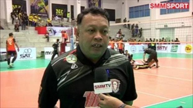 Volleyball Corner : บทสัมภาษณ์หลังเกมหลังหนุ่มโคราชฮอตต่อเนื่องอัดเอ็นเคฯ 3-0 ซิวชัย 5 นัดรวด