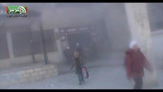 ระเบิดซีเรีย ลงกลางโรงเรียนประถม เด็กน้อยหนีตายจ้าละหวั่น