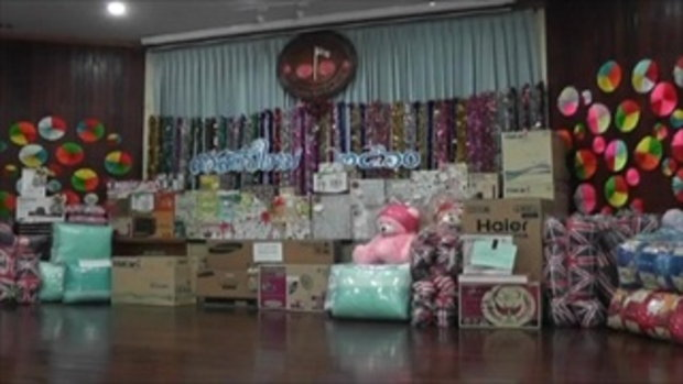 Sakorn News : งานเลี้ยงปีใหม่เทศบาลตำบลบางเสาธง