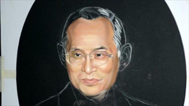 ฝีมือเด็กไทย วาดในหลวง ร.9  เหมือนมาก จนต้องดู !!! Pastel Speed Drawing ll King Bhumibol Adulyadej