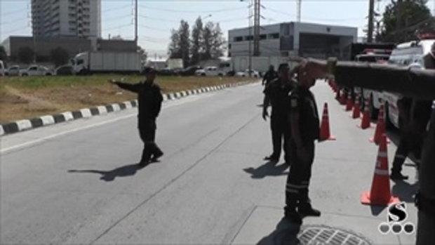 Sakorn News : สถานีตำรวจภูธรบางเสาธงจัดโครงการขับดีมีรางวัล เพื่อกวดขันวินัยจราจรในช่วงเทศกาลปีใหม่