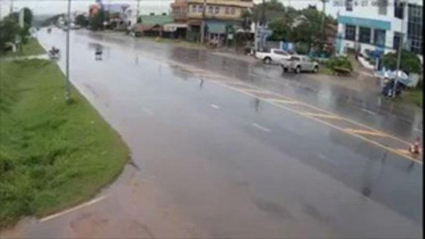 อุทาหรณ์คนใช้รถใช้ถนน ฝนตกถนนลื่น