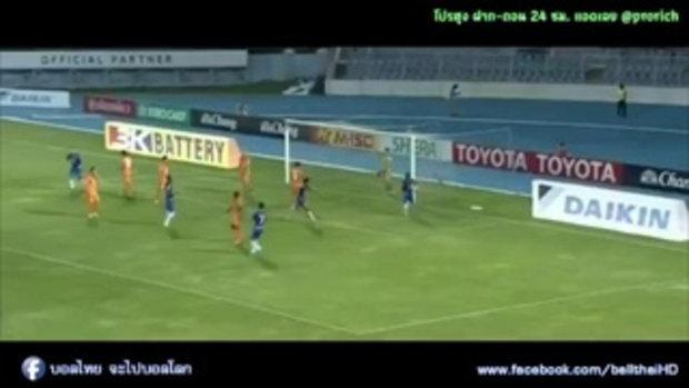 ไฮไลท์การทำประตู ฟุตบอลไทยลีก ชลบุรี เอฟซี 3-2 สุโขทัย เอฟซี - 21-05-2017