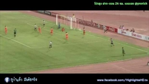 ไฮไลท์การทำประตู ฟุตบอลไทยลีก นครราชสีมา เอฟซี 0-1 เชียงราย ยูไนเต็ด - 20-05-2017
