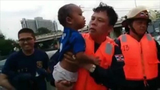 ทหารเรือฮีโร่ช่วยชีวิตเด็ก 3 ขวบ ตกน้ำในแม่น้ำเจ้าพระยา ให้รอดชีวิต