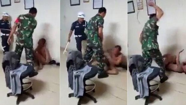 คลิปหนุ่มถูกทหารทารุณ เฆี่ยนไม่ยั้ง ทั้งเข่า-ศอก ที่แท้ไม่ใช่ในไทย