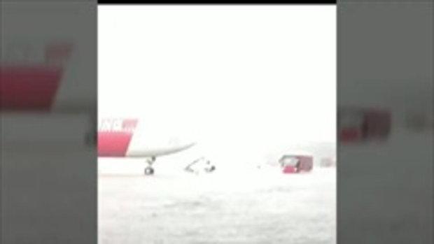 แชร์ว่อน ! คลิปน้ำท่วมสนามบินดอนเมือง ยันยังให้บริการตามปกติ