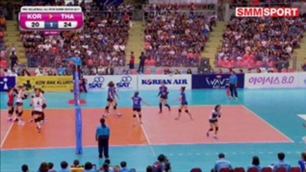 HL | Korea-Thailand Pro Volleyball All-Star Super Match 2017 | ไทย - เกาหลีใต้ | 3/6/60