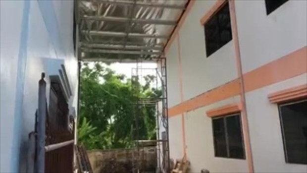 เทศบาลเมืองแปดริ้วลงพื้นที่ตรวจสอบ กรณีซื้อบ้านคู่แล้วฮุบพื้นที่ส่วนกลางของชุมชน