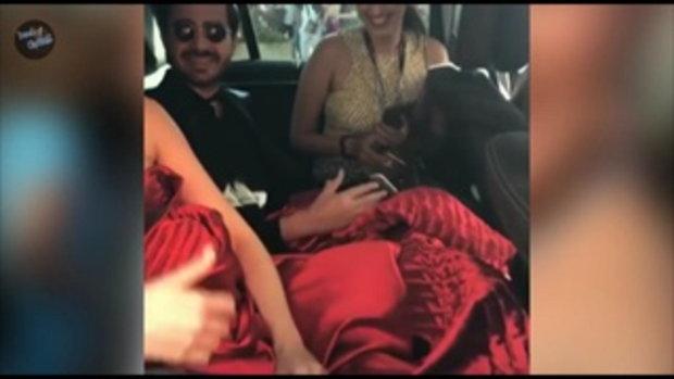 น็อต วิศรุต ถ่ายคลิปมือถือ ชมพู่ อารยา ในชุดสีทูโทน งานเทศกาล เมืองคานส์ ครั้งที่ 70