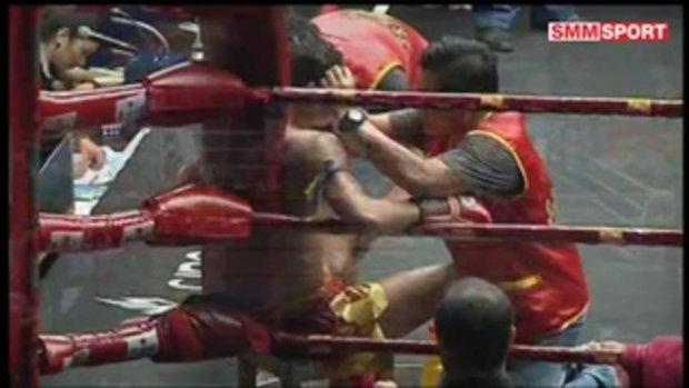 คู่มันส์มวยไทย l ศึกวันทรงชัย คู่ 3 กริซทองคำ ร.ร.กีฬาโคราช พบ ก้องสนั่น ศักดิ์หอมศีล l 29 มิ.ย. 60