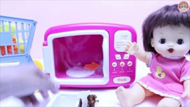 แกะไข่เซอร์ไพร์สของเล่น สไปเดอร์แมน Cars Planes รีวิวของเล่นไมโครเวฟ Toy Microwave Hamburger Playset