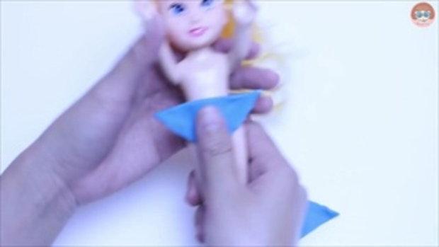 ชุดว่ายน้ำ ตุ๊กตาบาร์บี้ สอนปั้นแป้งโดว์ชุดตุ๊กตา Play Doh Disney Princess Dresses Ariel Cinderella
