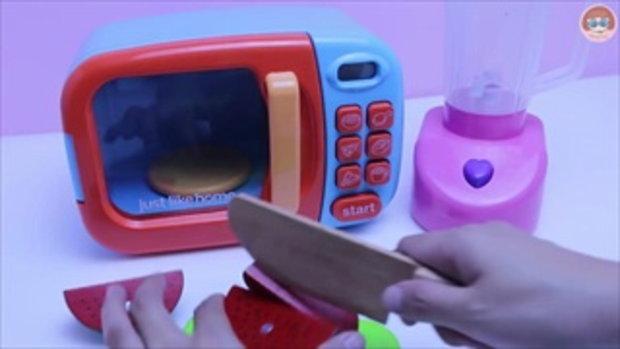รีวิวสกุชชี่ผลไม้ นุ่มๆ สโลว์ๆ Microwave Surprise Squishy Toy Fruit Cutting Blender Slime Smoothie