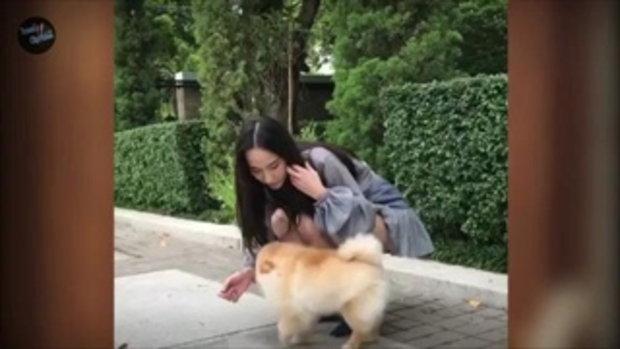 อั้ม พัชราภา ซุปตาร์ตัวแม่ สวมชุดแซ่บ กินกระท้อน & เล่นกับหมา สวยออร่ามาเต็ม