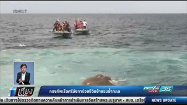 กองทัพเรือศรีลังกาช่วยชีวิตช้างจมน้ำทะเล