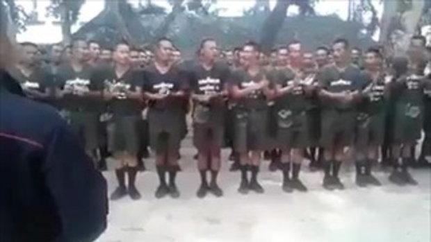 มุมน่ารักของทหารฝึก สุขสันต์วันเกิด ครูแบงค์