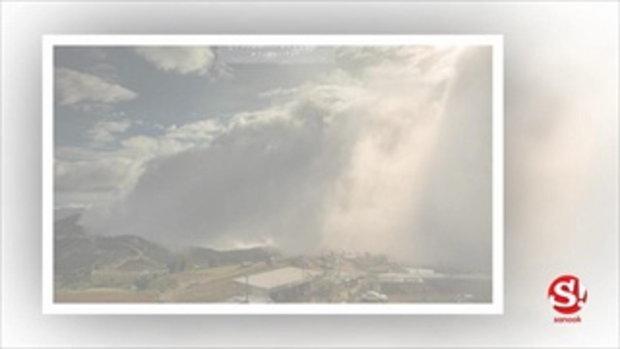 ชมภาพ พายุหมอก ที่อลังการกว่าทะเลหมอก ณ ภูทับเบิก