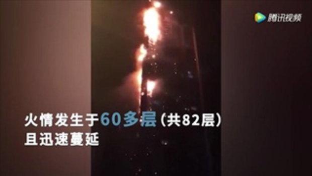 ไฟไหม้ตึกระฟ้า 'มารีนา ทอร์ช' สูง 86 ชั้น ในดูไบ