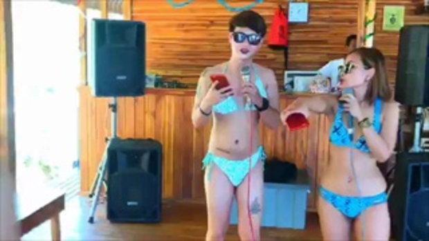 โซเชียลกระหึ่ม!!! แพมันนี่ กาญจนบุรี ไลฟ์สดเต้นบิกินี่ ปักหมุดเช็คอินชวนคู่ขวดเบียร์ขวดเหล้าหรา