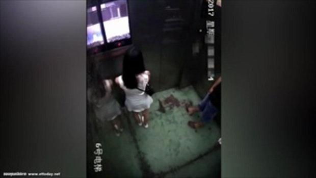 เตือนภัย สาวๆ อย่าประมาท ขึ้นลิฟท์คอนโดกลางดึก อาจซวยแบบนี้ได้