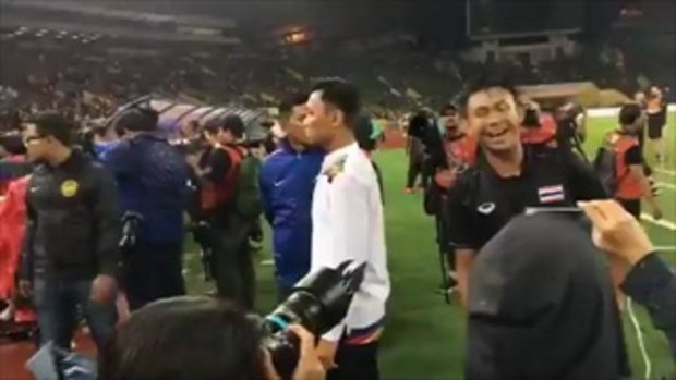 บรรยากาศรับเหรียญทองซีเกมส์ฟุตบอลชายไทย