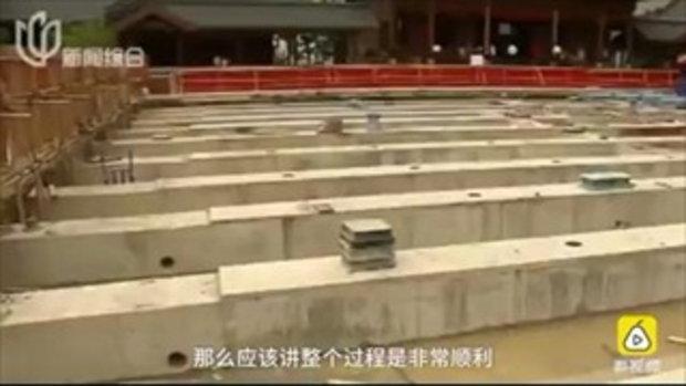 เมืองจีนประสบความสำเร็จ ย้ายครั้งประวัติศาสตร์ของวัดพระหยกขาว