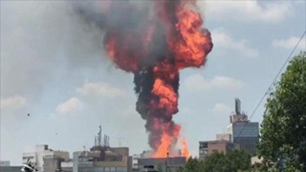 เปิดคลิประทึก นาทีแผ่นดินไหวเม็กซิโก ตึกระเบิด-บ้านถล่ม แม่น้ำสั่นป็นคลื่น