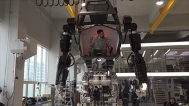 เกาหลีผลิตหุ่นยนต์สุดล้ำ คนขึ้นไปนั่งบังคับได้จริง เท่อย่างกับในหนัง
