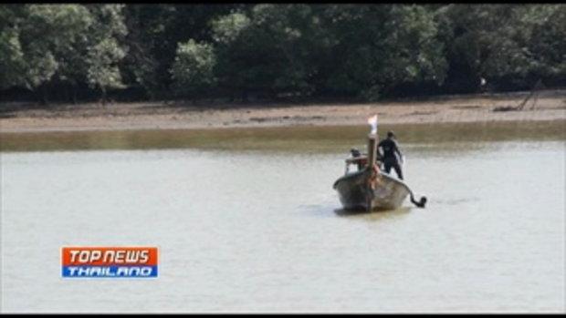 2หนุ่มหนีด่านตรวจ กระโดดแม่น้ำกระบี่ ถอดเสื้อผ้าว่ายน้ำจนหมดแรง ตร.นำเรือไปช่วย รับกลัวความผิดที่กิน