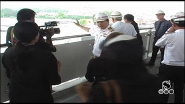 Sakorn News : ตรวจรับการก่อสร้างรถไฟฟ้าสายสีเขียว