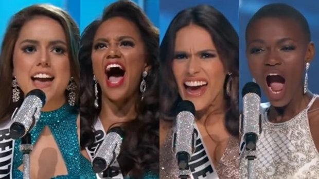 จริตแนะนำตัว นางงาม บนเวที  Miss Universe 2016 จัดเต็มมาทุกประเทศ