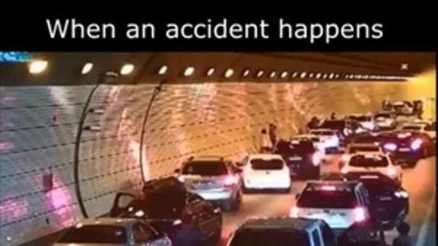 เมื่อเกิดอุบัติเหตุ ในอุโมงค์ เกาหลีใต้ ดูสิ่งที่เกิดขึ้น ยอดวิวทะลุ 100 ล้าน