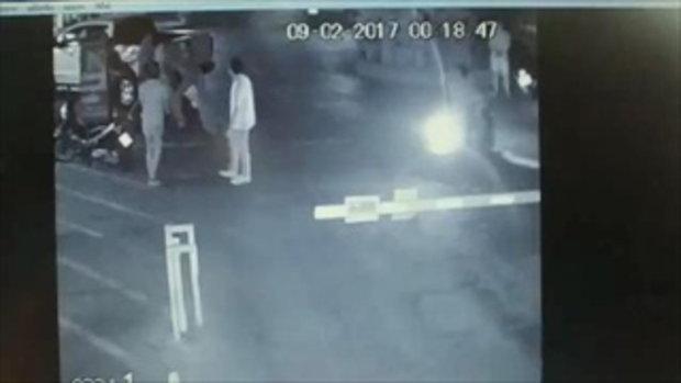 แก๊งชายชุดดำรุมทำร้าย!! หลานสาว'ทักษิณ'อัดน่วมคาลานจอดรถห้างดังย่านบางกะปิ