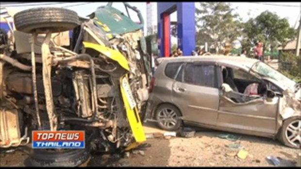 ขนส่งเชียงรายตรวจสอบรถโม่ปูนชนตาย 9 ศพ พบตัวรถไม่ได้จดทะเบียน ส่วนคนขับไม่มีใบขับขี่