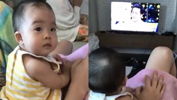 เมื่อ น้องเป่าเปา ดูตัวเองใน tv ตอนออกรายการ 3แซ่บ