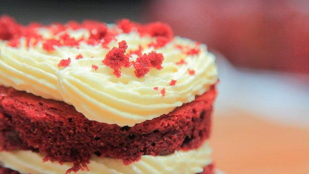Sanook Good Stuff : สูตร Red Velvet Cakes เค้กกำมะหยี่สีแดงสุดฮอต