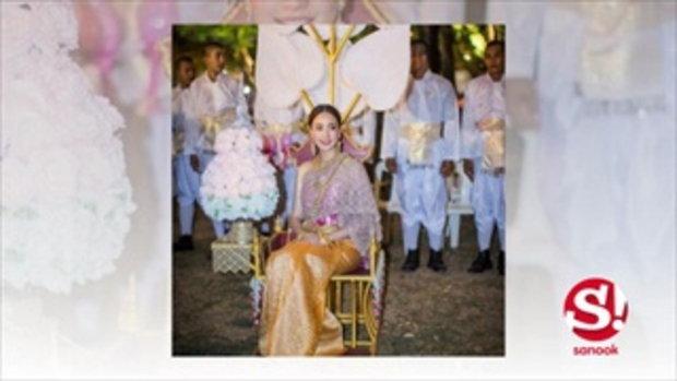 งามอย่างไทย แอฟ แต้ว ร่วมอัญเชิญพระเกี้ยว งานจุฬาฯ 100 ปี