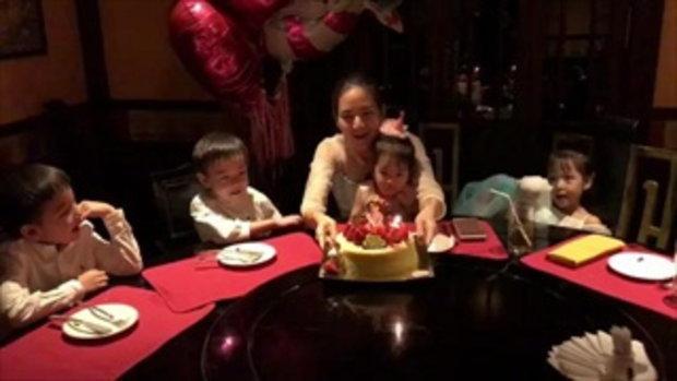 พลอย ชิดจันทร์ จัดปาร์ตี้วันเกิดน้องชิลีน มีแค่พ่อแม่ลูก 6 คน