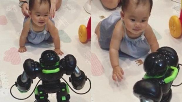 เมื่อเป่าเปา เจอหุ่นยนต์ ที่พ่อบี้ส่งมาให้จากจีน