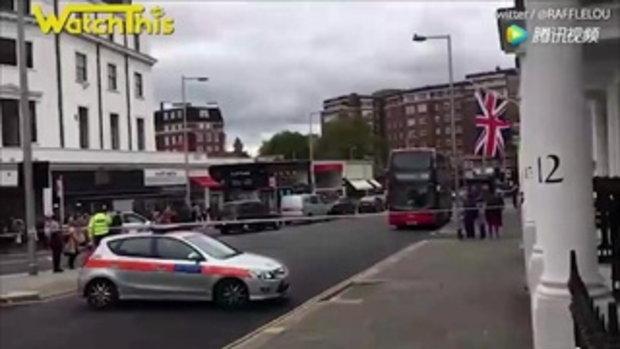 ระทึกขวัญ เก๋งชนคนเดินเท้ากรุงลอนดอน เจ็บระนาว 11