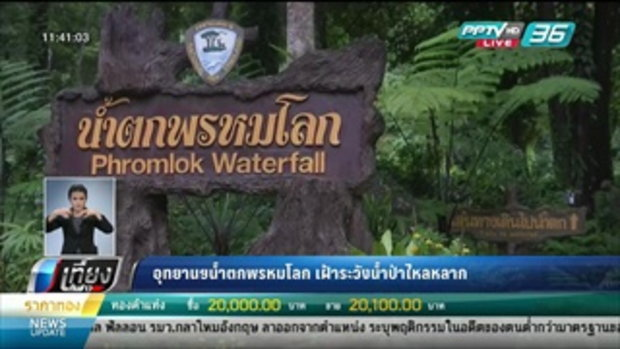 อุทยานฯน้ำตกพรหมโลก เฝ้าระวังน้ำป่าไหลหลาก - เที่ยงทันข่าว