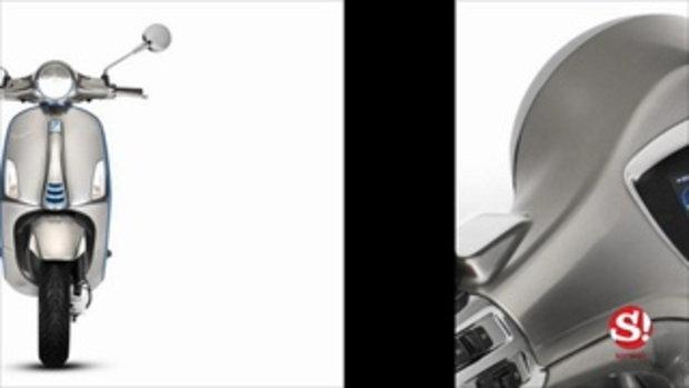 Vespa Elettrica 2018 ใหม่ สกู๊ตเตอร์ไฟฟ้าวิ่งได้ไกล 100 กิโลเมตร
