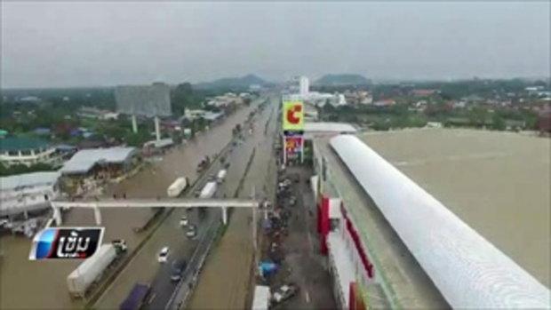 อ.เมืองเพชรบุรีเตรียมรับมวลน้ำสมทบเพิ่มอีกระลอกคืนนี้ - เข้มข่าวค่ำ