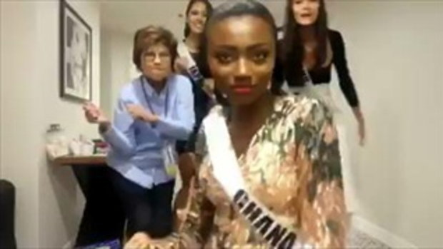 มารีญา พูลเลิศลาภ พร้อมแก๊งค์ Miss Universe 2017 เต้นปานามา ไม่ห่วงสวย