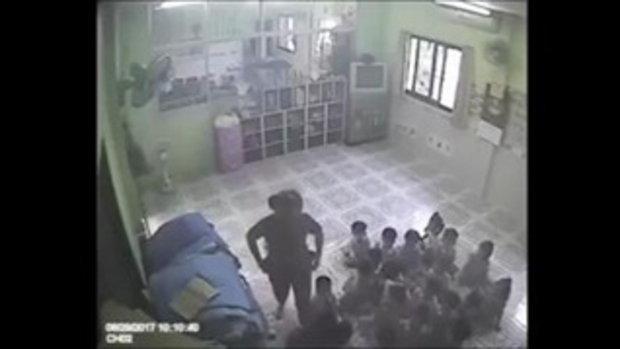 วงจรปิดแฉครูพี่เลี้ยงใจโหด ดึงหูจิกหัวตบ ทำร้ายเด็กรุนแรง