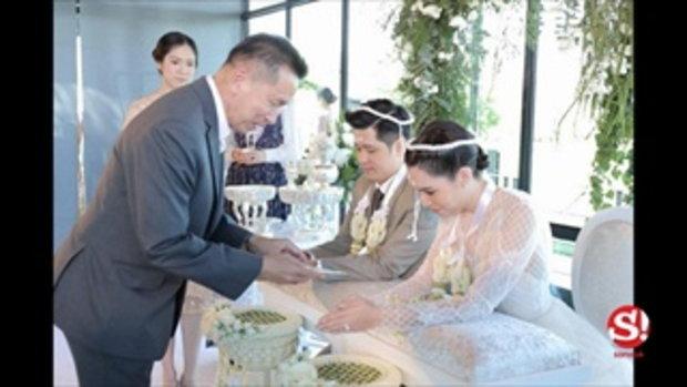 ภาพสุดประทับใจ เพื่อนพ้องยินดีวิวาห์หวาน งานแต่งจ๊ะ เอิน