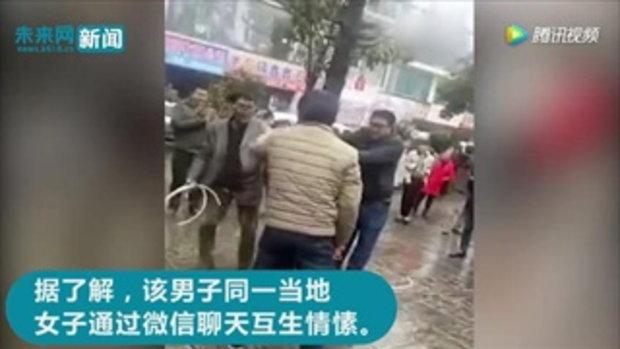 ชายจีนนัดเดทสาวในแน็ต กลับเจอสามีเธอพาพวกรุมยำยับเยิน