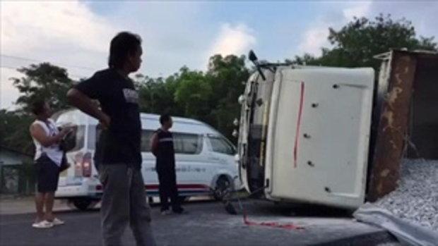 แห่ยกย่องคนขับรถพ่วง 22 ล้อ ยอมหักหลบจนรถพลิกคว่ำ เพื่อรักษาชีวิตด.ช.วัย 8 ขวบ